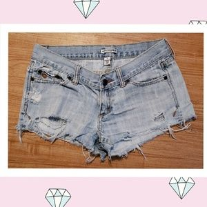 Abercrombie and Fitch Distressed light Jean Shorts